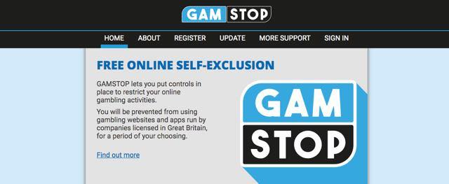 GAMSTOP lets you put controls in place to restrict your online gambling activities