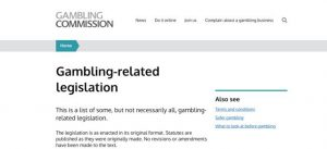 Gambling related legislation