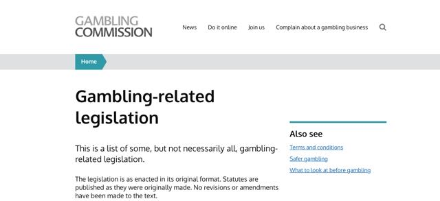 Gambling-related legislation